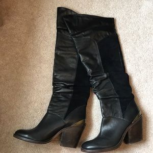 bf62dd441bd Lucky Brand Over the Knee Black Boots Size 8.5